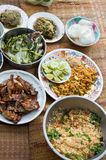 Thai Dishes course eaten with rice ,Thai style Stock Images