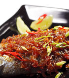 Thai Dishes - Grilled Dorado Royalty Free Stock Photography