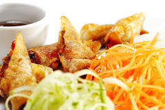 Thai Dishes - Rolls With Beef And Oyster Sauce Stock Images