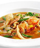 Thai Dishes - Seafood with Lemon Sorgho Royalty Free Stock Photo