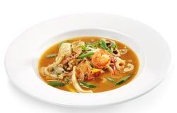 Thai Dishes - Seafood with Lemon Sorgho royalty free stock photos