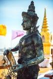 Thai Divinity in Wat Saket - The Golden Mountain Temple (Phu KHa Royalty Free Stock Photos