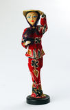Thai doll. Thai woman doll dressed in elegant red two piece dress Stock Photos
