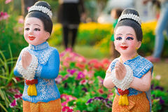 Thai doll is in garden. Stock Images