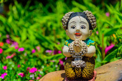 Thai Doll. Thai Doll Sawasdee your welcome Royalty Free Stock Image