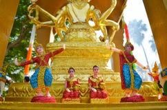 Thai doll in spirit house Royalty Free Stock Photos