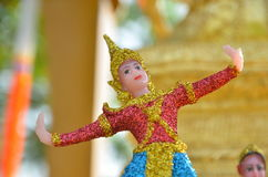 Thai doll in spirit house Stock Photography