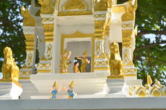 Thai doll in spirit house Royalty Free Stock Photography