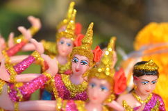 Thai doll in spirit house Stock Image