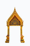 Thai Door Frame Isolated Royalty Free Stock Images