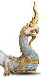 Thai dragon. Statue isolate on the white background Royalty Free Stock Photos