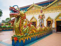 Thai dragon Chinese dragon at public temple that created with money donated by people to hire artist no restrict in copy or use Stock Images