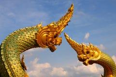 Thai dragon or king of Naga statue Royalty Free Stock Photo