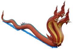 Thai dragon or king of Naga statue Royalty Free Stock Images