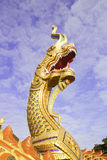 Thai dragon or king of Naga statue Stock Image