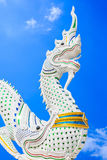 Thai dragon or king of Naga statue Stock Images
