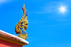 Thai dragon or king of Naga statue Royalty Free Stock Photography