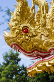 Thai dragon or king of Naga statue Royalty Free Stock Image