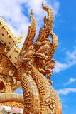 Thai dragon or king of Naga statue Royalty Free Stock Images
