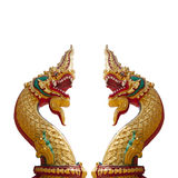 Thai dragon, King of Naga statue on white background Stock Photo