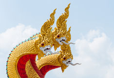 Thai Dragon sculpture Royalty Free Stock Photo