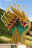 Thai dragon statue at Thai temple Stock Image