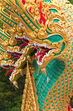 Thai dragon statue at Thai temple Royalty Free Stock Photos
