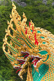 Thai dragon statue at Thai temple Stock Photo