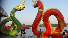 Thai dragons Stock Photography