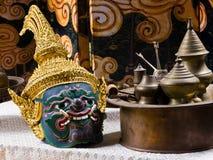 thai dramamaskering Fotografering för Bildbyråer