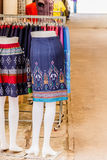 Thai   dresses on mannequins Stock Photography