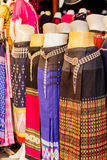 Thai   dresses on mannequins Royalty Free Stock Photos