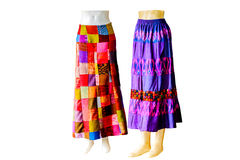 Thai   dresses on mannequins isolate white background with clipp Royalty Free Stock Images