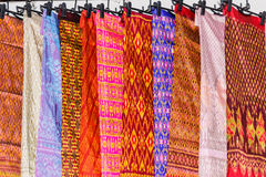 Thai dresses  on the rail Royalty Free Stock Images