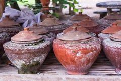Thai drinking water, lanna style Royalty Free Stock Photos