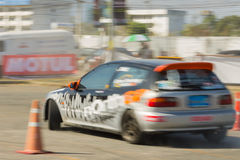 Thai driver race car Royalty Free Stock Photo