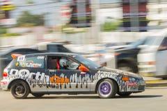 Thai driver race car Royalty Free Stock Photos