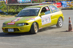 Thai driver race car Royalty Free Stock Images