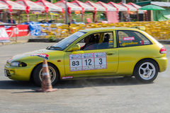Thai driver race car Royalty Free Stock Photography