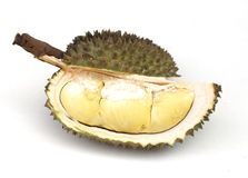 Thai durian. Is on white background Stock Photo
