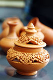 Thai Earthenware Royalty Free Stock Images