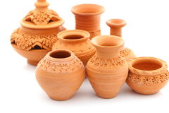 Thai Earthenware Stock Photo