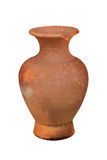 Thai Earthenware, ancient jar isolated white background Royalty Free Stock Photo