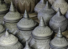 Thai Earthenware pottery, Bangkok, Thailand Royalty Free Stock Images