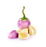 Thai eggplant isolated on white background. Thai eggplant on white background Stock Photos