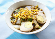Thai eggs Noodle Stock Image
