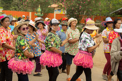 Thai elderly people celebrate Songkran festival or Thai New Year. TAPHAN HIN, PHICHIT, THAILAND - APRIL 18, 2017 : Thai elderly people celebrate Songkran Stock Images