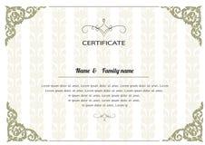 Thai elegant art frame, certificate design template. Royalty Free Stock Photography