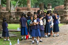 Thai elementary school in Sukhothai Royalty Free Stock Images