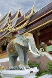 Thai Elephant. Statue at entrance to a Temple in Chiang Mai,Thailand Royalty Free Stock Image